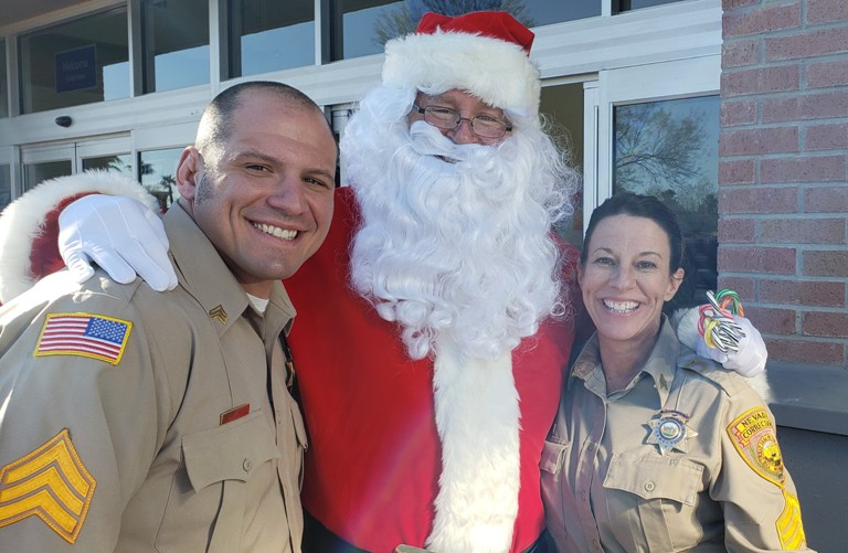HIGH DESERT CORRECTIONAL OFFICERS WITH SANTA